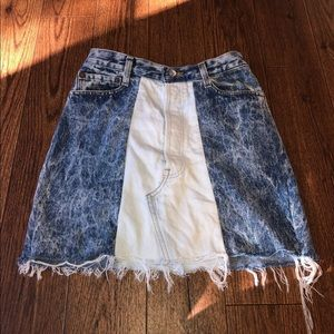 Levi's S Two Tone Vintage Jean Skirt